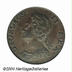George II copper Halfpenny 1740, S-3718. Old