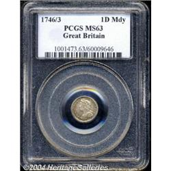 George II silver Maundy Penny 1746/3, S-3715A.