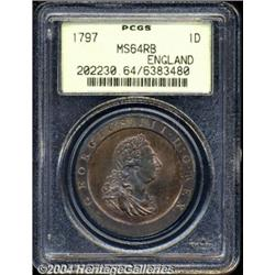 George III copper Penny 1797, S-3777. 10