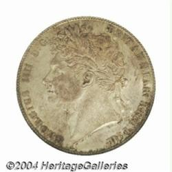 George IV Halfcrown 1823, S-3808. Laureate