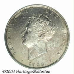 George IV Halfcrown 1825, S-3809. Bare head.