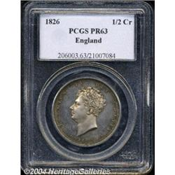 George IV Halfcrown 1826, S-3809. Bare head.