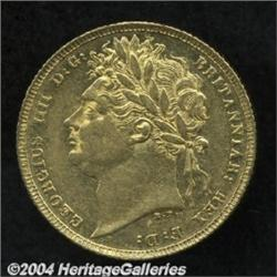 George IV gold Sovereign 1821, S-3800.
