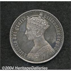 Victoria Gothic Crown 1853, S-3884. Septimo
