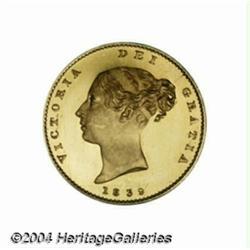 Victoria Young Head Proof gold Half Sovereign