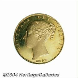 Victoria Young Head Proof gold Sovereign 1839,