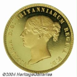 Victoria Young Head gold Proof 5 Pounds 1839,