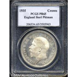 George V REP Crown 1935, S-4050. PR65 PCGS. A