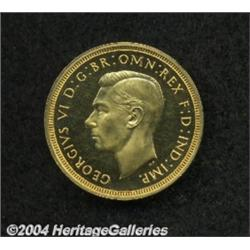 George VI gold Proof Sovereign 1937, S-4076.