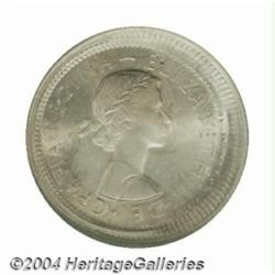 Elizabeth II multiple strike Florin 1964,