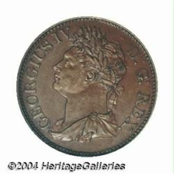 George IV Halfpenny 1822, bronzed copper Bust