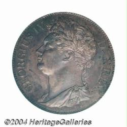 George IV Penny 1822, Bust left/Harp, S-6623,