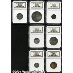 Seven-piece Proof Set 1904 consisting of: 1/2
