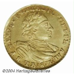Peter the Great gold 2 Roubles 1720, KM158.5,