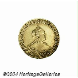 Elizabeth gold Rouble 1756, C-22, choice