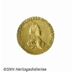 Catherine II gold Rouble 1779, C-76, lustrous