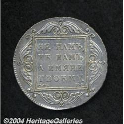 Paul I Rouble 1798CM-Mb, C-101a, lightly toned