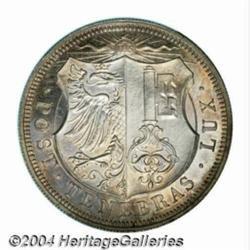Geneva. 5 francs 1848, Arms/Date and value,