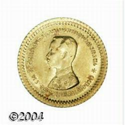 Rama V gold 1/8 Baht ND (1876-1900), Bust