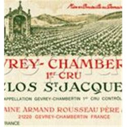 6xGevrey Chambertin Clos St Jacques Armand Rousseau 2002  (750ml)