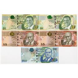 Central Bank of the Bahamas, 2007-2015 Banknote Assortment.
