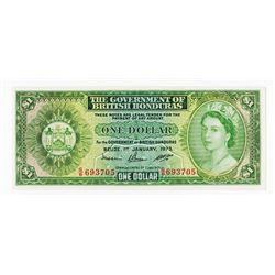 Government of British Honduras, 1973 Issue Banknote.