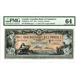 Canadian Bank of Commerce, 1917 $10 Issued Banknote.