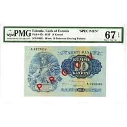 Bank of Estonia, 1937, Specimen Note