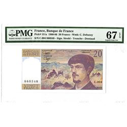 Banque de France, 1980, Issued Note