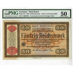 Germany/Third Reich - Konversionskasse 1934, Issued Banknote.