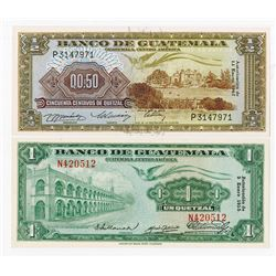Banco de Guatemala, 1955-1967, Issued Pair