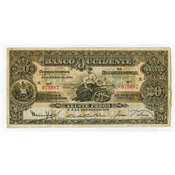 Banco de Occidente en Quezaltenango, 1918, Issued Note
