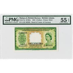 Board of Commissioners of Currency, Malaya and British Borneo 1953 Issued Banknote.