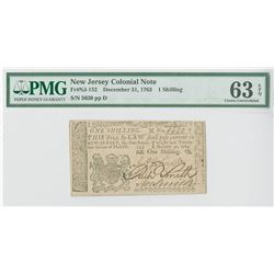 New Jersey Colonial Note, December 31, 1763, 1 Shilling, Fr#NJ-152.