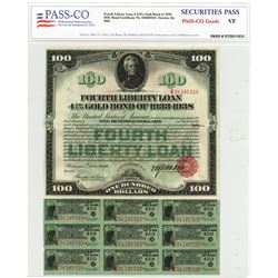 Fourth Liberty Loan 4.25 % Gold Bond of 1933-1938 Issue October 24, 1918.