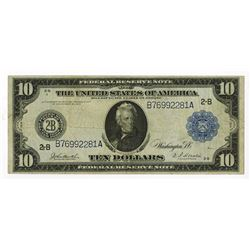 U.S. Federal Reserve Note, $10, 1914, Fr#910, New York District, Issued Note.