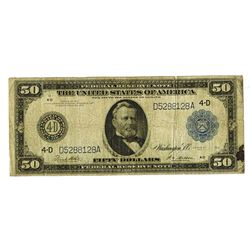 F.R.N., $50 Series of 1914, Fr#1039a, White | Mellon signatures, Cleveland, Ohio District.