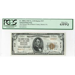 U.S. National Currency, $5, 1929, Fr#1800-2, Issued Note.