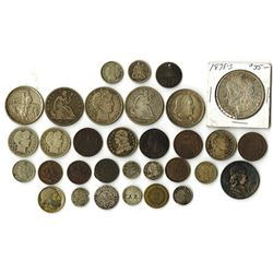 An Interesting Group of U. S. Coins and Tokens.