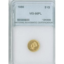 U.S. Indian Princess, $1 1888, Type III gold, NNC graded MS66PL