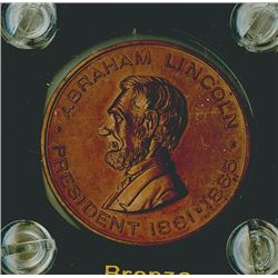 Lincoln 1909  bronze  Medal, Patriotic Eagle on Back, brown Uncirculated.