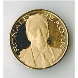Ronald Reagan 14 k Gold Medal with slightly over 1/2 ounce pure gold.