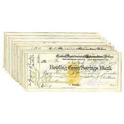 Central Department of Metropolitan Police, 1871, Group of 15 Checks