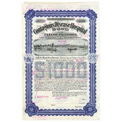Contagious Disease Hospital Bond, 1908 Proof Certificate