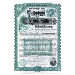 Talladega and Coosa Valley Railroad Co., 1889 Issued Bond