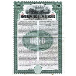 New Orleans, Mobile and Chicago Railroad Co., 1909 Issued Bond