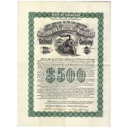 Silverton, Gladstone and Northerly Railroad Co., 1899 Issued Gold Bond.