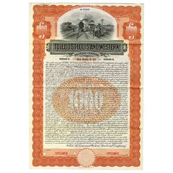 Toledo, St. Louis and Western Railroad Co., 1907 Specimen Bond