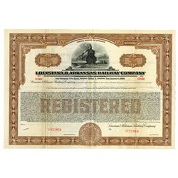 Louisiana & Arkansas Railway Co., 1869 Specimen Bond