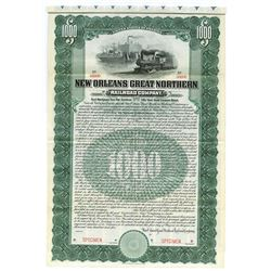 New Orleans Great Northern Railroad Co., 1905 Specimen Bond